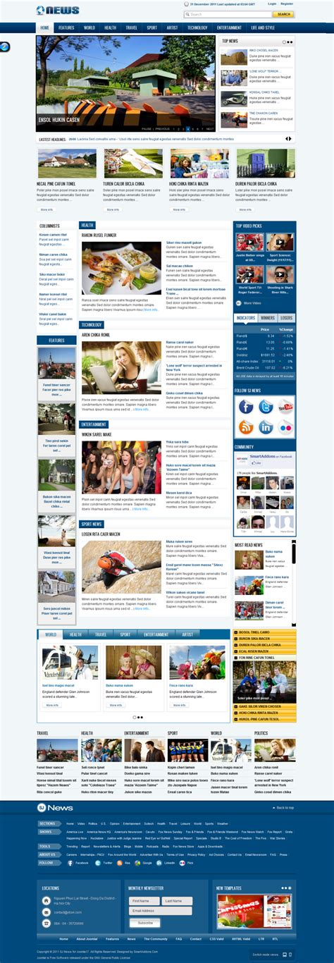joomla cms templates free download image collections