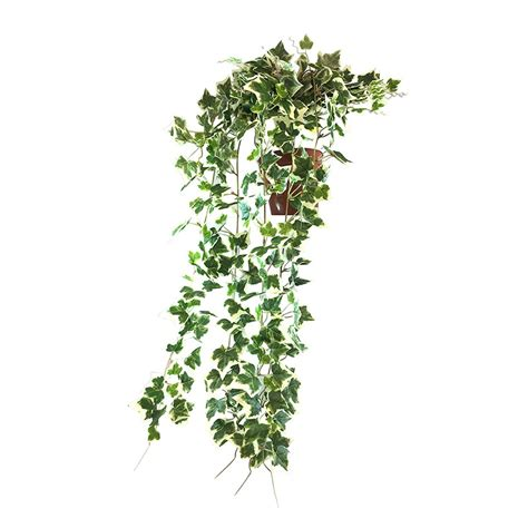 artificial trailing ivy bush potted dark green cm