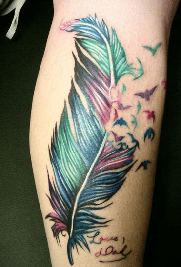 feather tattoo calf top 25 calf tattoos for men and women