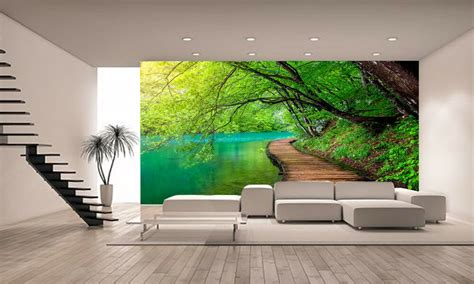 forest crystal water wall mural photo wallpaper giant