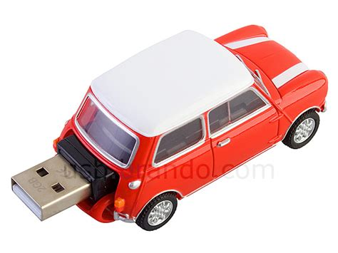 White Stripes On Usb by Usb Mini Cooper Flash Drive With White Stripes