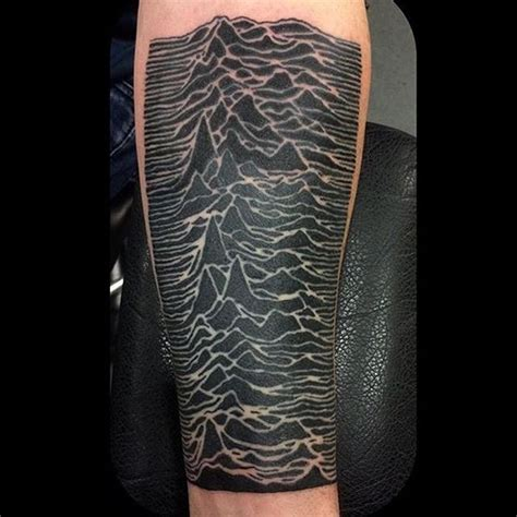 joy division tattoo kingofbones completed some unknown pleasures this week