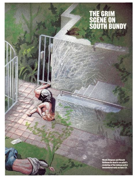 nicole brown simpson murder scene digital mock up of the crime scene on bundy ave