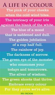 poems about colors 30 poems about amazing lessons