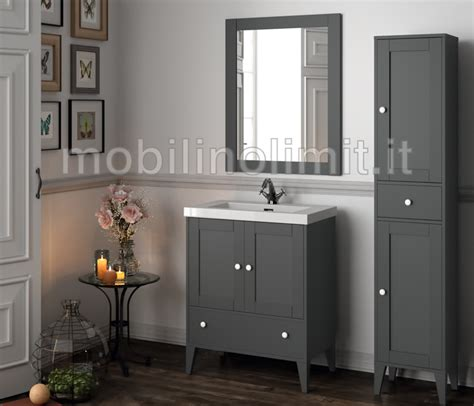 mobili bagno grigio mobile bagno grigio con lavabo serie toscana l 70