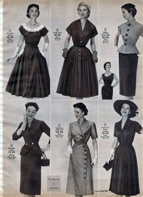 1950s dresses skirts styles trends pictures