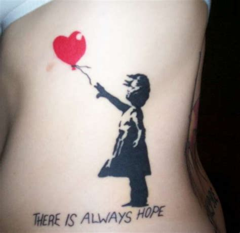 girl with balloon tattoo banksy s balloon