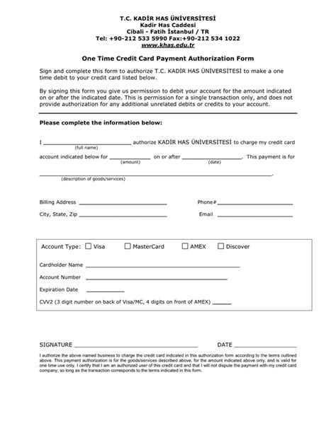 Canadian Credit Card Authorization Form Template Image Gallery Payment Authorization