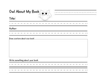 1st grade book report form owl about my book report form fabulous grade