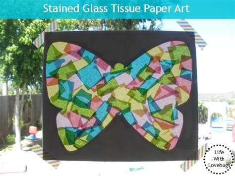 Tissue Paper Stained Glass Craft For - stained glass tissue paper for with lovebugs