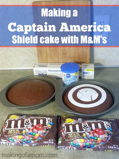 how to make a captain america shield cake with m m s