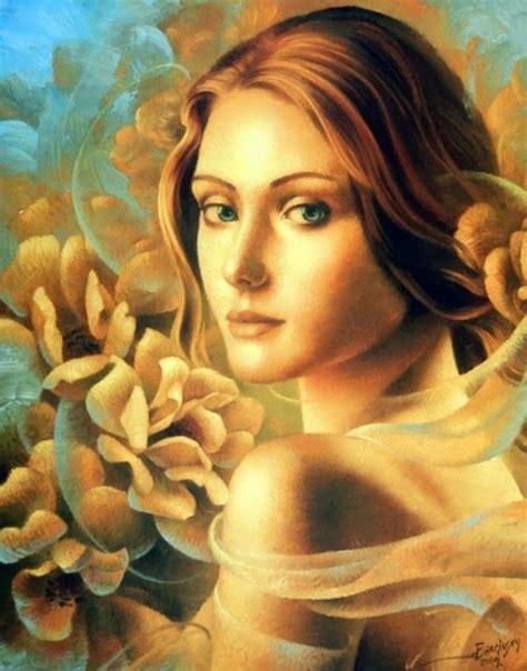 pinturas al oleo de rostros pinturas tem 225 ticas caras de mujeres retratos al 211 leo de