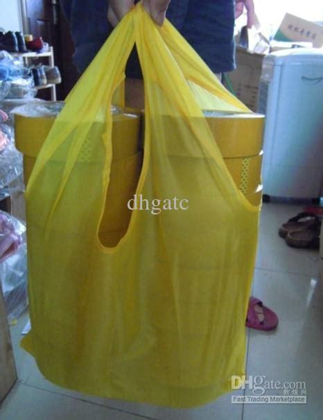 Foldable Environmental Reusable Shopping Bags Kantong Plastik Green M green foldable bag environmental shopping bags reusable recycle choose color from