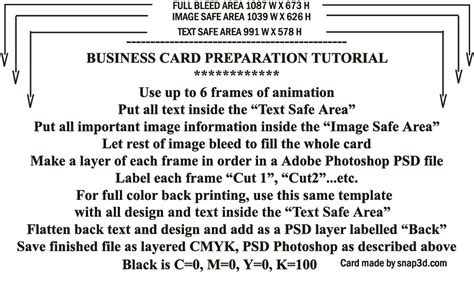 Snap Card Template by Snap 3d 3d Lenticular Prints And Cameras