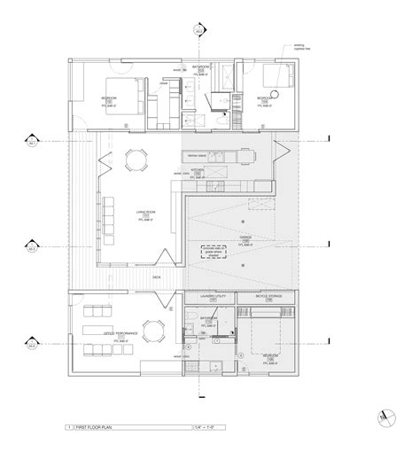 tree floor plan gallery of house in trees anonymous architects 23