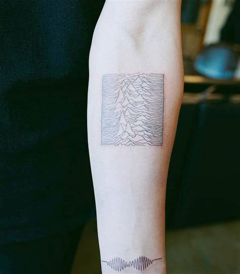 joy division tattoo division s unknown pleasures album inspired