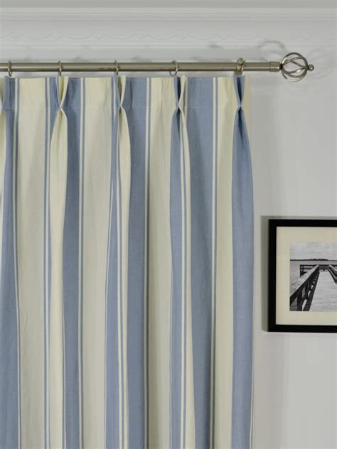striped drapery panels moonbay stripe double pinch pleat cotton curtains