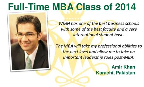 Offering Mba In Virginia by Why We Chose W M