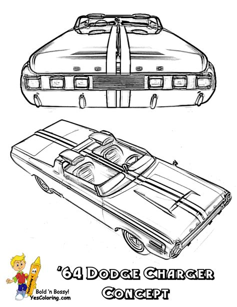 1969 dodge charger r t coloring pages