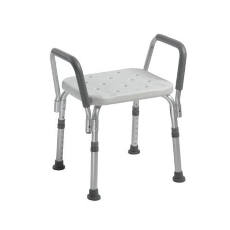 medical bench knock down bath bench with padded arms by drive medical