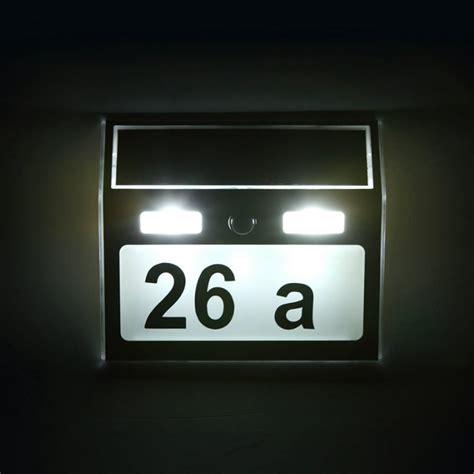 solar led house number light solar power 7 led pir motion sensor house number light