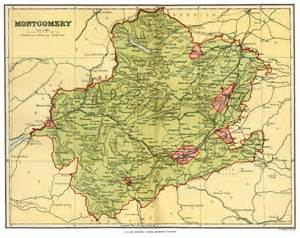 montgomery map montgomeryshire genealogy heraldry and family history
