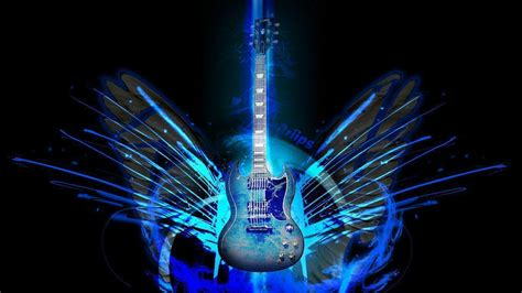 wallpaper blue guitar electric blue wallpapers wallpaper cave