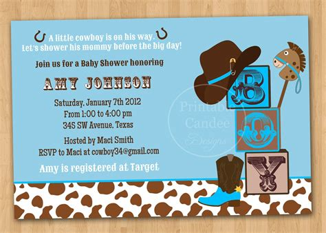 Western Baby Shower Invitations Template Resume Builder Free Western Baby Shower Invitation Templates