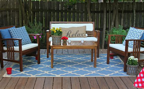 outdoor rugs outdoor decor outdoor furniture make an exciting zone in your patio with world market