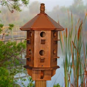 wooden bird houses large bird house copper birdhouse purple martin box