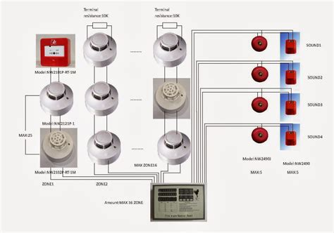 wiring diagram addressable smoke detector circuit
