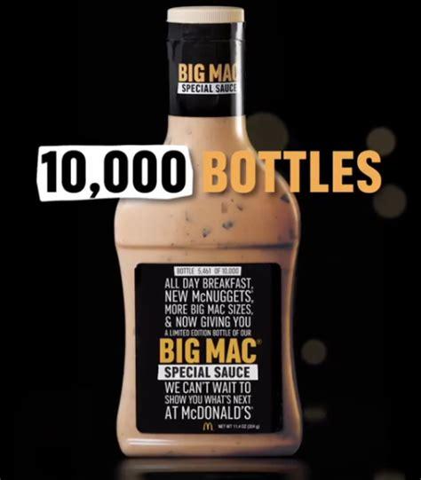 Mcdonalds Big Mac Sauce Giveaway Locations - mcdonald s giving away 10k bottles of special sauce on 1 26 familysavings