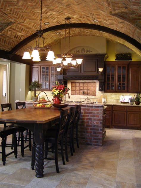 Ceiling Brick Incorporating Exposed Bricks In Stylish Designs Around The