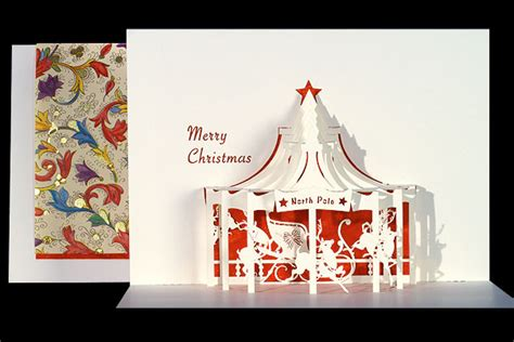 carousel pop up card template carousel origami architecture pop up cards by