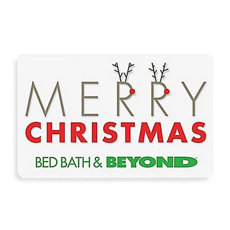 Bed And Bath Gift Card - quot merry christmas quot reindeer gift card bed bath beyond