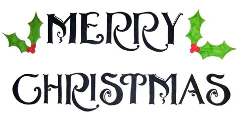 Images For > Merry Christmas Stencil Free Printable ... Free Clip Art Christmas Words