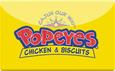 Popeyes Gift Cards - buy popeyes gift cards raise