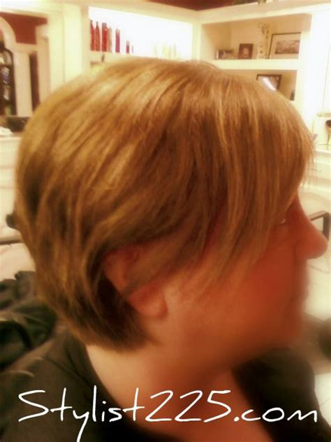 hair long enough for a ponytail long inverted bob long enough to pull back into a low
