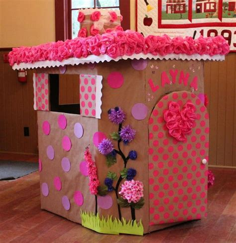 creative diy cardboard playhouse ideas