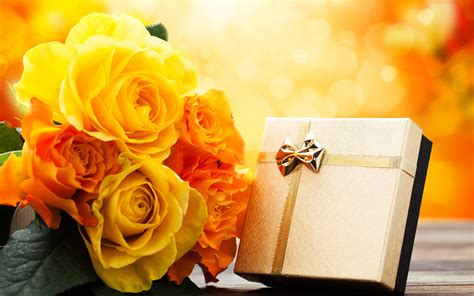 wallpaper flower gift gift with yellow flowers wallpapers and images