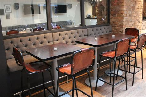 restaurant banquette seating banquette seating for envy bar london fitz impressions
