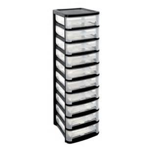 eda plastiques tour de rangement city 10 tiroirs