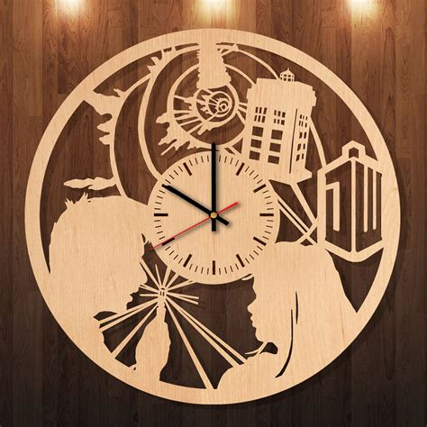 Handmade Clocks Wood - david tennant doctor who handmade wood wall clock