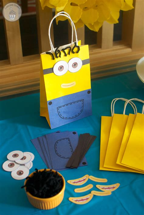 how to make minion favor bags minion birthday party with free printables