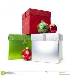christmas gift box ornaments royalty free stock image