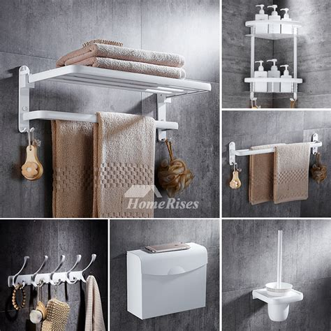 Discount Bathroom Accessories Sets 5 Aluminum Painting Cheap Bathroom Accessories Sets