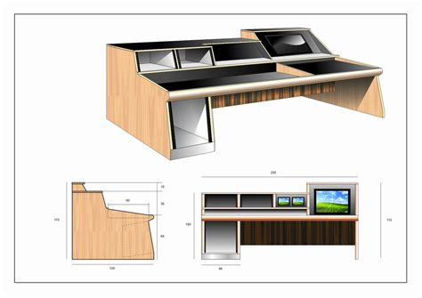 roll top desk for sound mixing boards looking for secure mixing board desk build plans