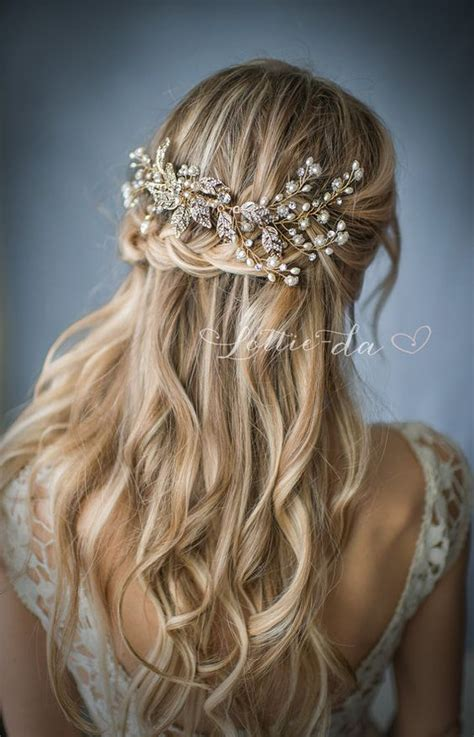 Wedding Hairstyles For Hair Half Up Half With Veil by Half Up Half Wedding Hairstyle Via Lottiedadesigns