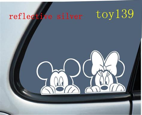 Autoaufkleber Baby Disney by Fot Car Sticker Mickey Minnie Mouse Quot Peeking Quot Vinyl
