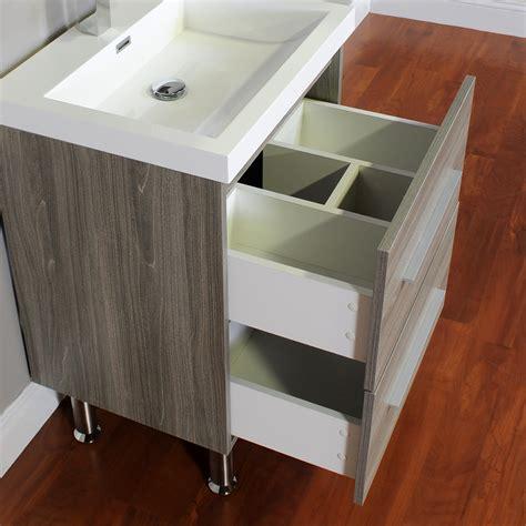 ripley 24 in single modern bathroom vanity in gray